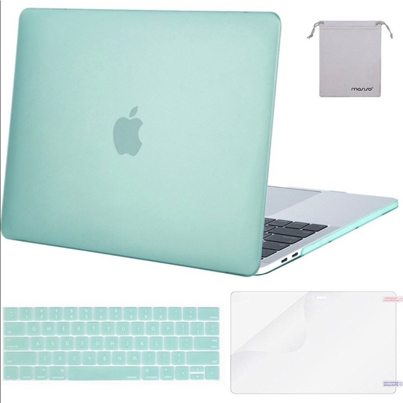 "Other - Mint Green Macbrook Pro 13"" Laptop Case"